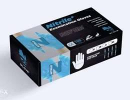 nitrile gloves medical examination powder ...