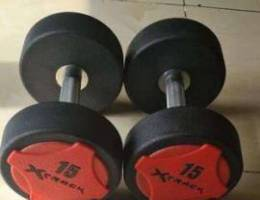 X Track 15 kg Dumbells Total 30 kg for sal...