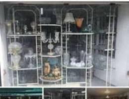 محل كريستال وتحف للبيع بسعر مغري