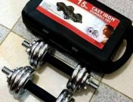 Cast Iron Dumbbell Set (7.5KG Each)