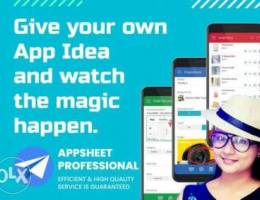 we turn your idea into an app by using app...