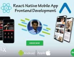 WE develop mobile app frontend
