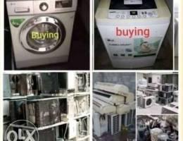 Not working washing machine, damage AC buy...